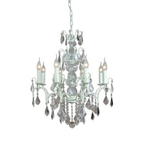 The Marseilles: 8 Branch Antique White French Chandelier